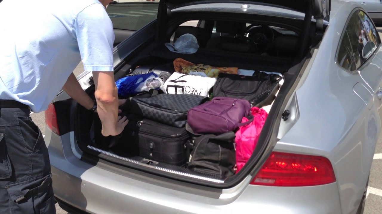 How much fits in the audi A7 trunk? - YouTube