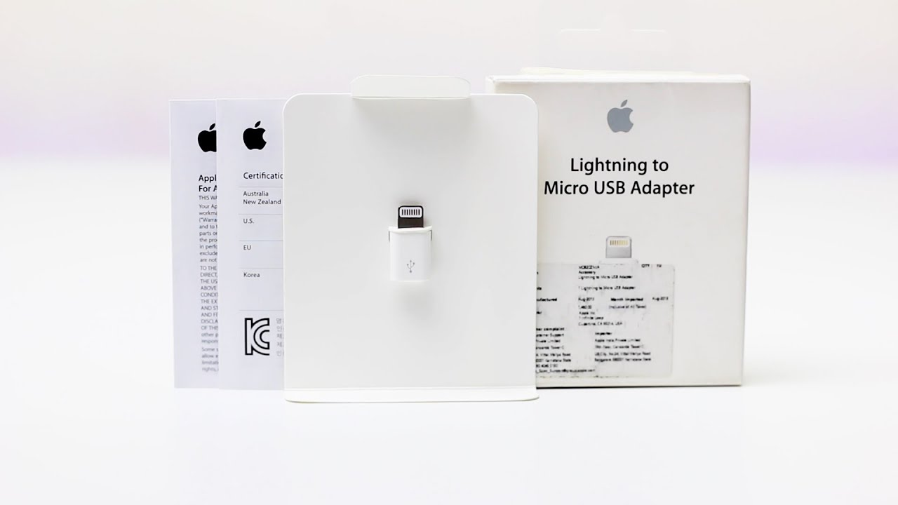 Apple Lightning to Micro USB Adapter Review  sc 1 st  YouTube & Apple Lightning to Micro USB Adapter Review - YouTube azcodes.com
