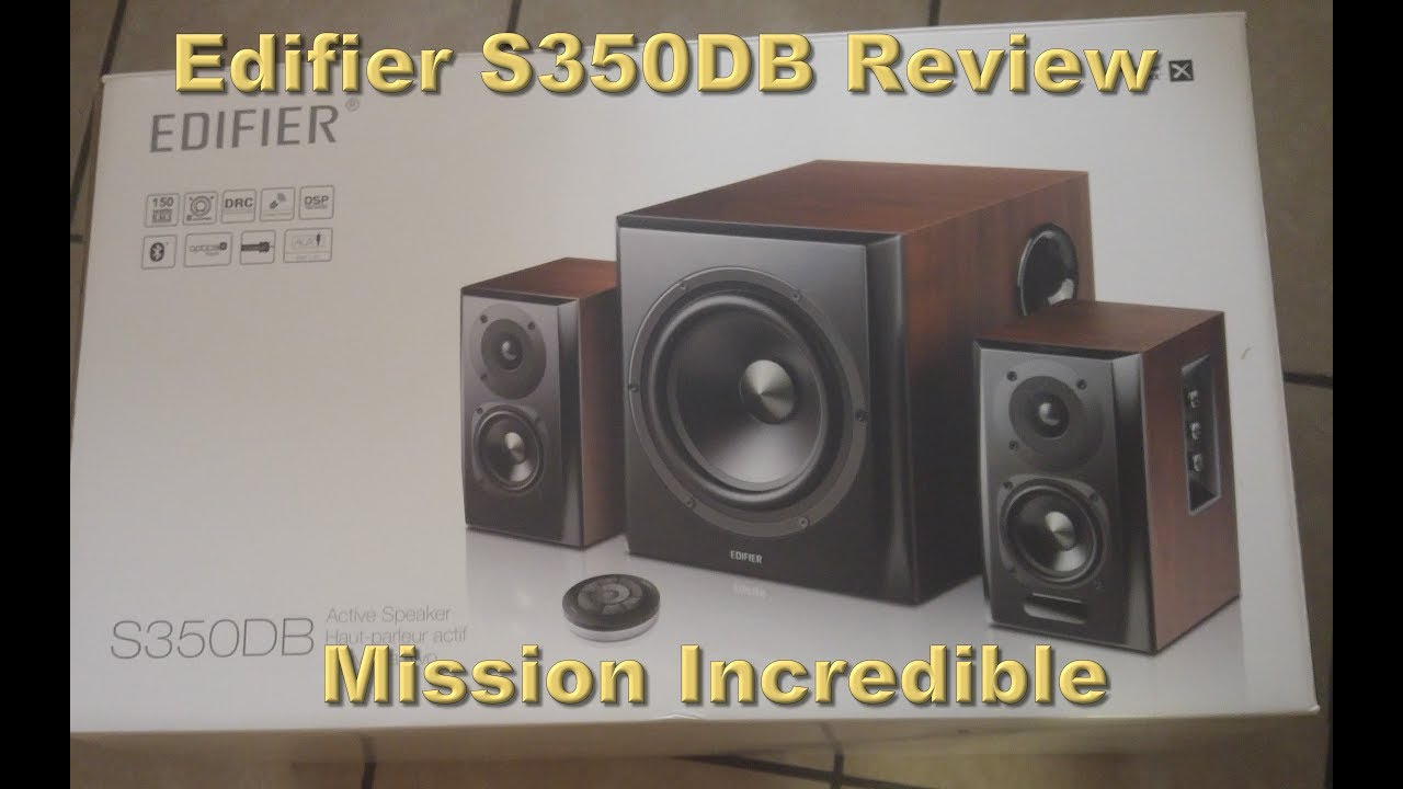 Edifier S350DB Computer Bookshelf Speakers And Subwoofer Review