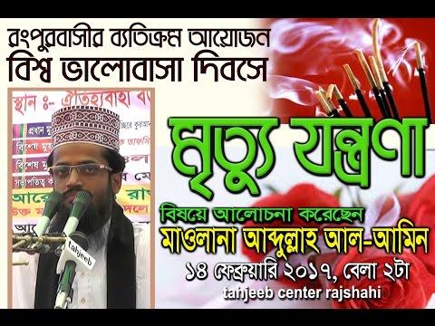 মৃত্যু যন্ত্রনা কত কঠিন - Mrittu Jantrana ।। Bangla Waz Mahfil 2018 ।। Maulana Abdullah Al Amin