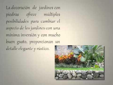 Decoraci n de jardines con piedras youtube - Decoracion de jardineria ...