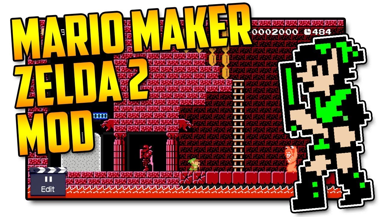 Zelda 2 Hidden Palace - Super Mario Maker Mod