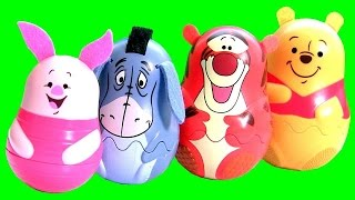 Disney Baby Stacking Cups Surprise Pooh Tigger Eeyore Piglet Shopkins Eggs Play Doh Magiclip