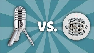 unboxing samson meteor mic vs blue snowball mic microphone comparison sound test and giveaway