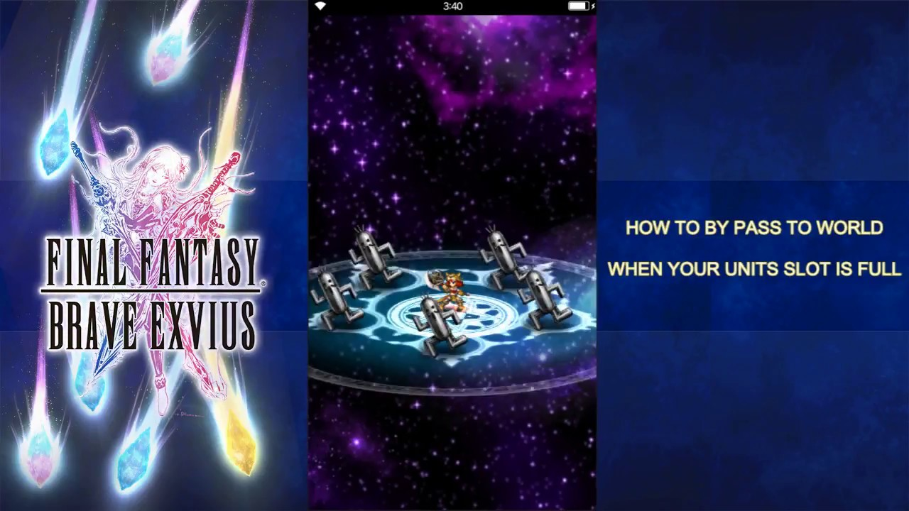 Ffbe Tips Tricks By Pass Too Many Units Cannot Go World