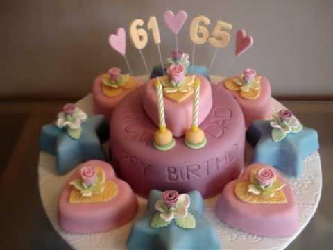 Parents Birthday Cake 9th Fondant Cake Youtube