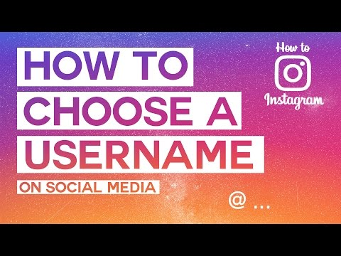 HOW TO CHOOSE A GOOD USERNAME  // How To Instagram