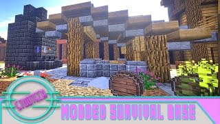 Minecraft: Modded Survival Base Build - Tinker Construct Smeltery (Stud Tech Ep.5)