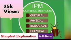 Part :- 1 - Integrated Pest Management  -  Cultural Methods of Control