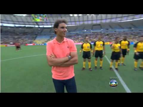 Rafael Nadal makes visit to Maracana Stadium - Vasco da Gama vs. Flamengo