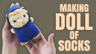TUTORIAL MAKING DOLL OF SOCKS | How to Make a Sock Doll, DIY Dolls from Socks