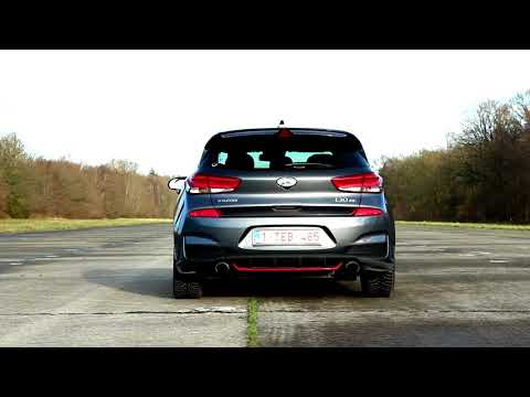 Hyundai I30N Performance loud reving and launch