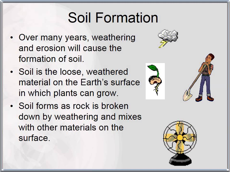 Rock weathering and soil formation youtube for Soil information for kids