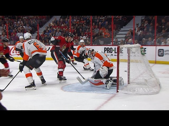 Brady Tkachuk sets family record on first tally of two-goal night