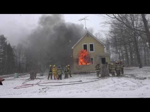 3-11-2017    Charlevoix Township Fire Dept. Controlled Burn