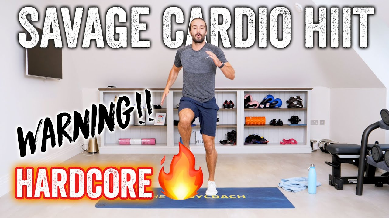 HARDCORE!! 20 Minute SAVAGE Home HIIT Workout | The Body Coach TV