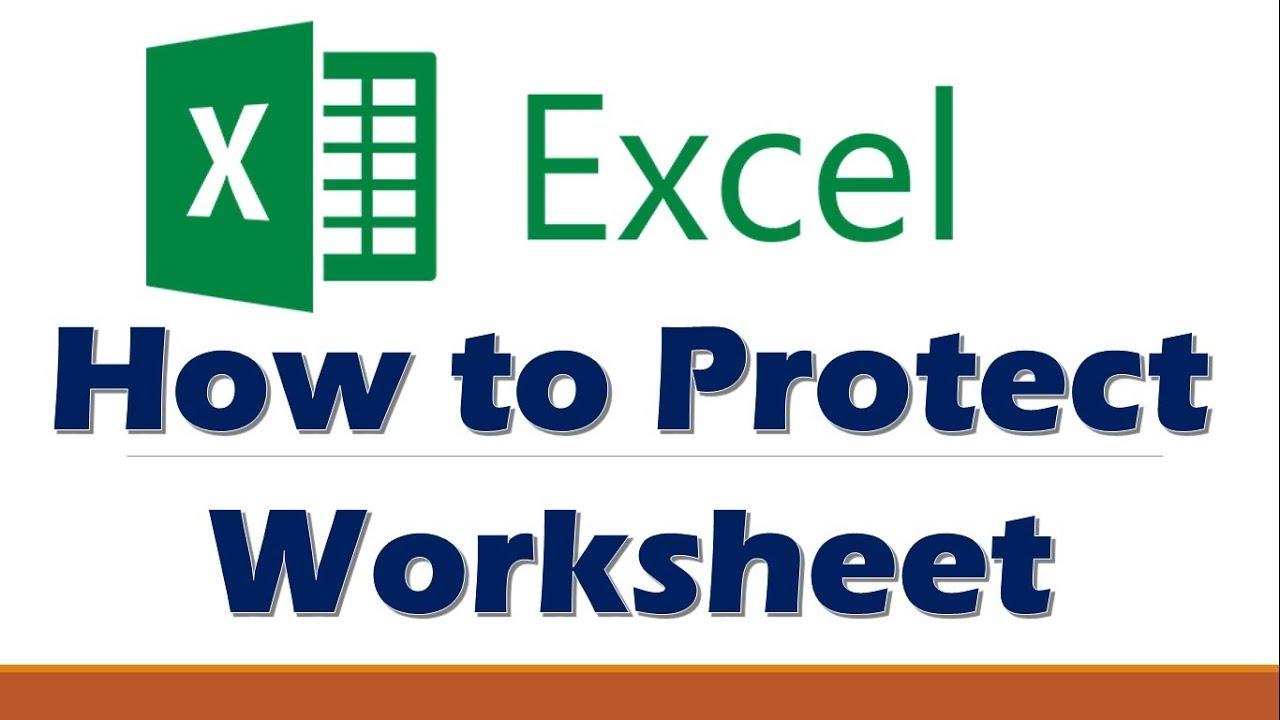 Workbooks workbooks.worksheets : Excel 2016 - Protecting Workbooks, Worksheets & Cells - YouTube