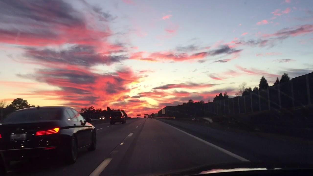 USA Carolina del Sur Cielo rojo
