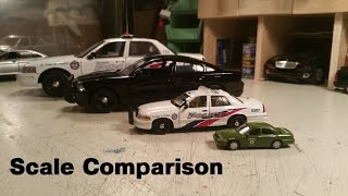 Diecast model side by side scale/size comparison