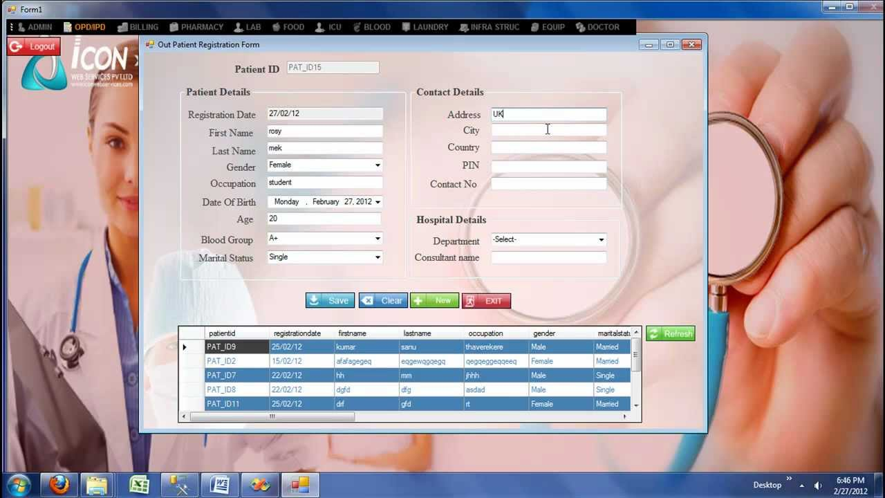 Hospital Management System -OPD/IPD Registration Module_ icon info ...