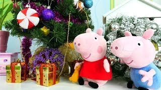 Peppa Wutz schmückt den Weihnachtsbaum. Peppa Pig auf Deutsch.