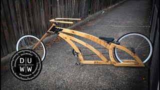 Building the most awesome handmade badass wooden chopper bike