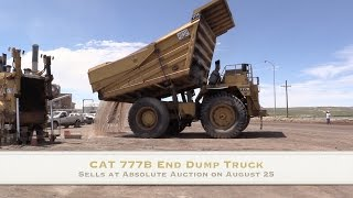 CAT 777B End Dump Truck Sells - No Reserve - at Public Auction