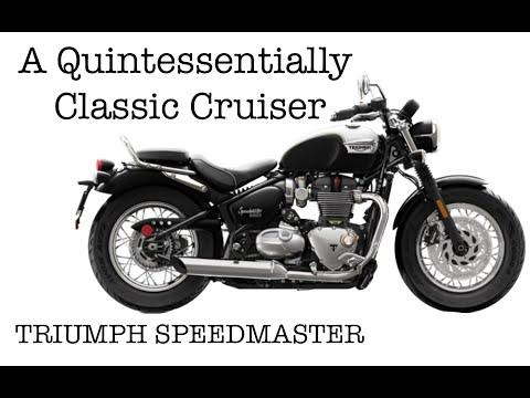 A Quintessentially Classic Cruiser - Triumph Speedmaster Motorcycle