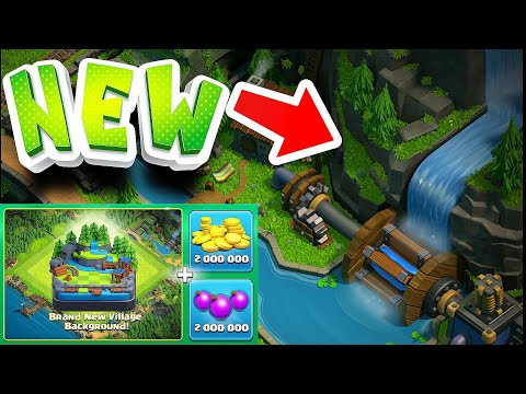 """BUYING NEW WATERFALL!! """"Clash Of Clans"""" Buy New update complete!"""