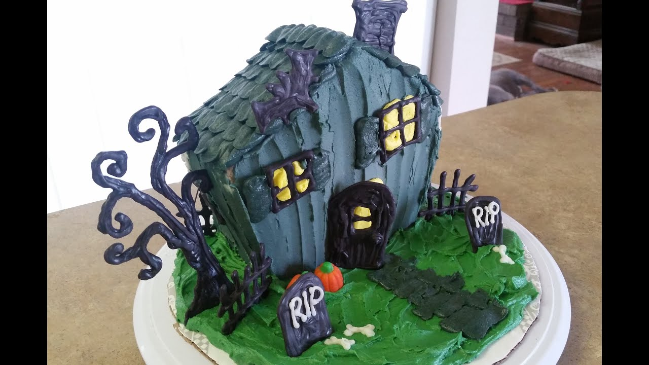 How To Make A Haunted House Cake