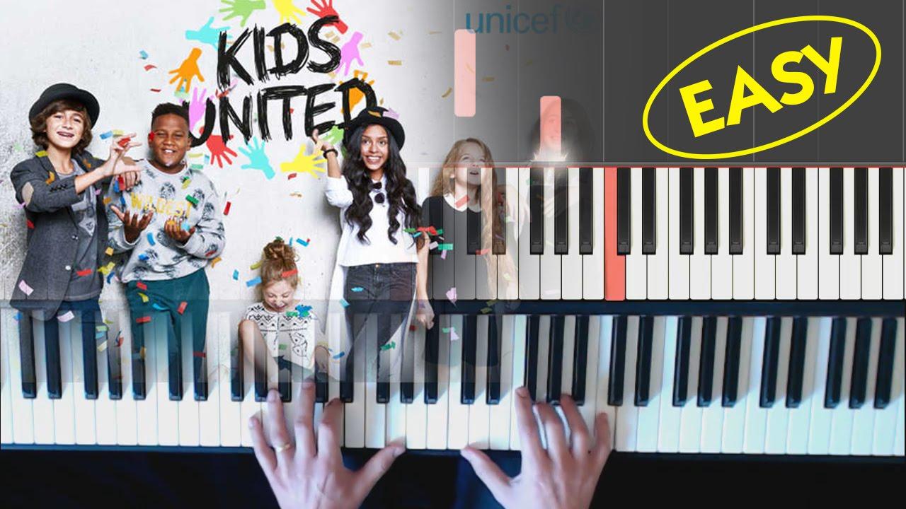 kids united on ecrit sur les murs tutorial piano facile youtube. Black Bedroom Furniture Sets. Home Design Ideas