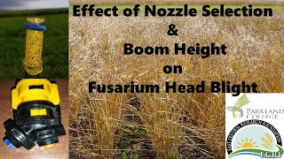 Effect of Nozzle Selection and Boom Height on Fusarium Head Blight
