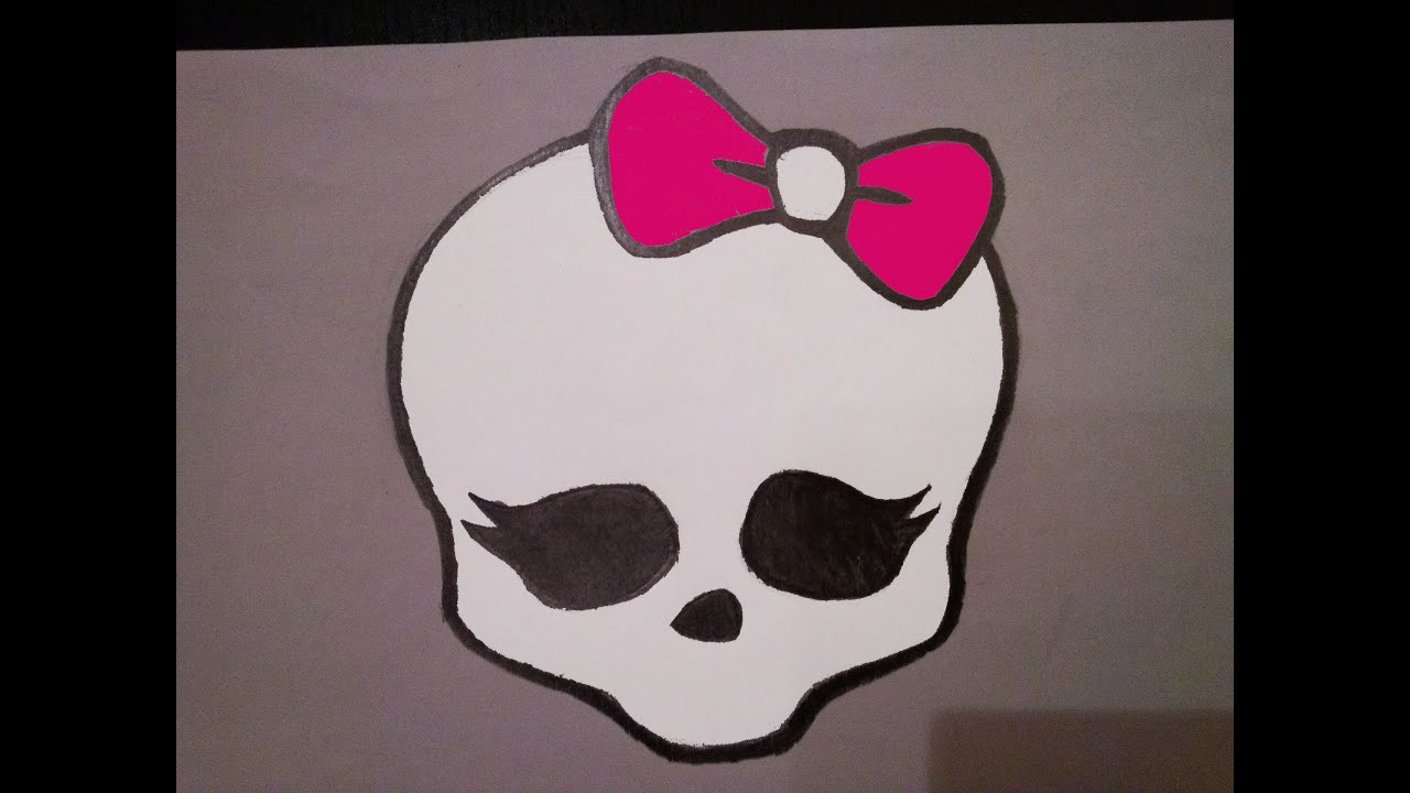 Cmo dibujar la calavera de Monster High Aprende a dibujar logo