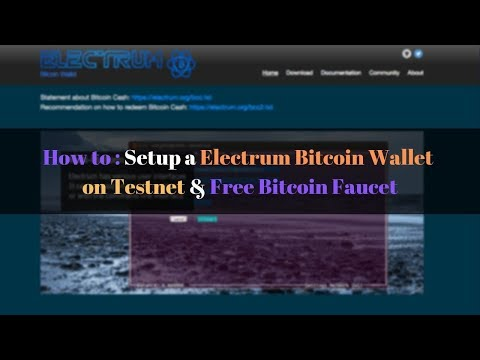 How To Setup A Electrum Bitcoin Wallet On Testnet | Free Bitcoin Faucet | PIAIC