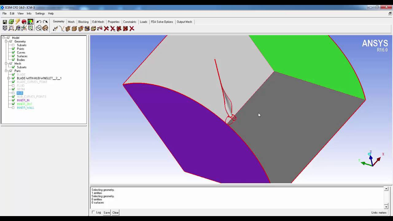 Windturbine meshing in ICEM Part 5 - YouTube