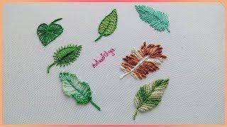 Bordados à Mão – 7 Maneiras Diferentes de Bordar Folhas