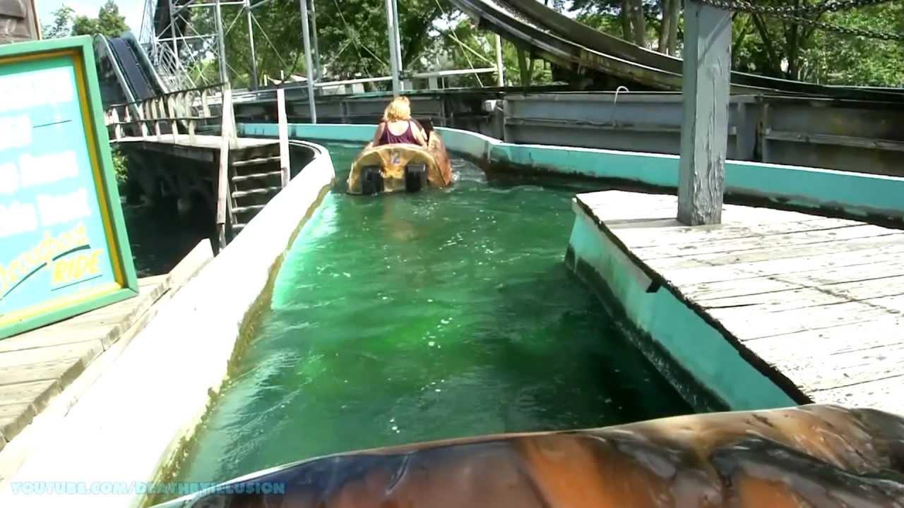 Log Ride On Ride Front Seat Hd Pov Adventureland Youtube
