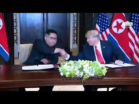 Donald Trump and Kim Jong Un sign historic document:
