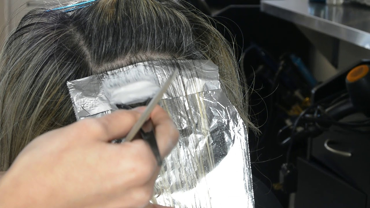 Gray Blending For Dark Hair With Grey Highlights Only No Lowlights Youtube