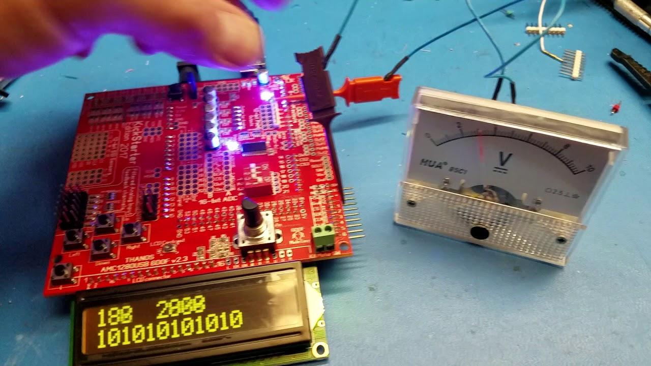 Troubleshooting Analog 12bit output on AMC1280USB barebone