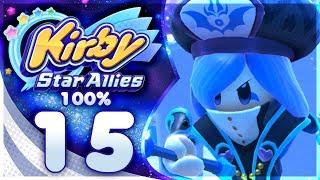 FRANCISCA REMATCH! Kirby Star Allies - 100% Walkthrough: Far-Flung Starlight Heroes | Part 15!