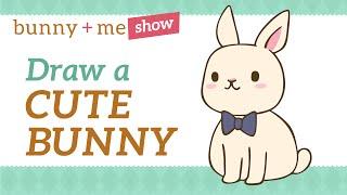bunny draw easy rabbit drawing kawaii drawn beginners tutorial drawings sketch art4clip getdrawings