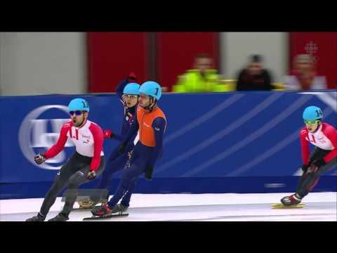 François Hamelin / Men`s 1500m Final + interview - ISU World Cup Short Track Speed Skating Toronto
