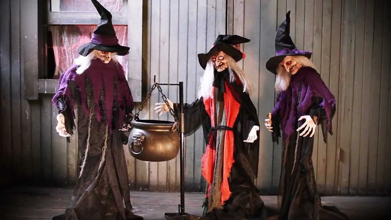 Halloween Witches With Cauldron Youtube