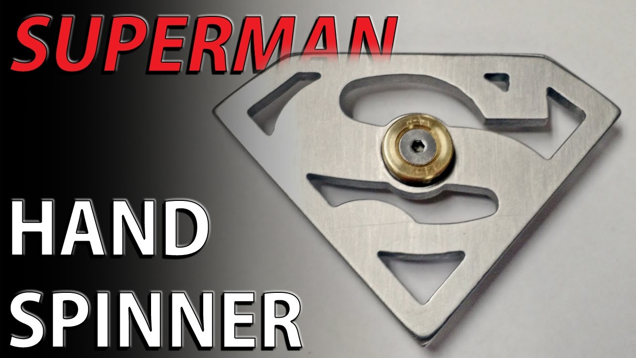 Superman Hand Spinner Fidget Toy By Popular Request