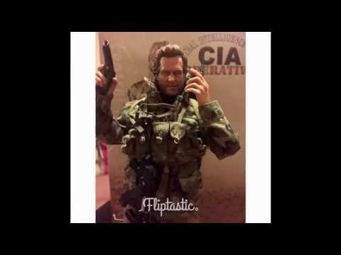 C.I.A operative action figure made by toys city.picture slideshow,close ups and poses.