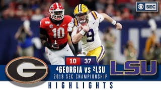2019 SEC Championship Highlights: #2 LSU dominates #4 Georgia | CBS Sports