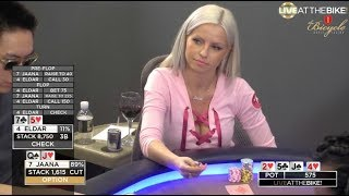 Best Hands From Action Cash Game ♠ Live at the Bike!