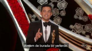 RAMI MALEK OSCAR KONUŞMASI | En İyi Erkek Oyuncu | Türkçe