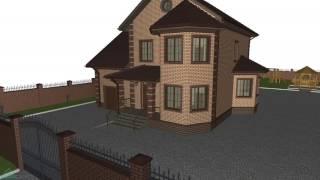 Типовой проект двухэтажного дома «Универсал» с гаражом (вариант)  D-117-ТП